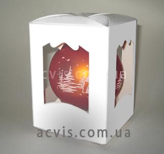 коробка для шарика елочного